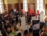 aerial view of Fall Career Expo