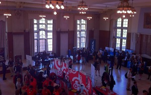 shot of fall expo 2011 from the union ballroom balcony